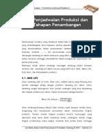 Penjadwalan Produksi & Tahapan Penambangan