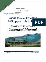 Utl Dwdm Technical Manual _utl-Mp-0072