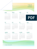 Any Year Business Calendar 1