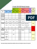 2019-2020 weekly calendar