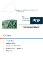 Effect of Surface Topography on Erosion Behavior of Aluminium