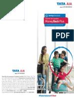 Tata AIA Life Insurance MoneyBackPlus Brochure