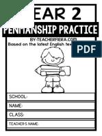 Penmanship Practice Year 2