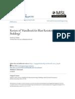 Review of Handbook for Blast Resistent Design of Buildings