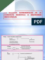 Modelos Experimentales de La Conducta Neurótica o Desórdenes Emocionales