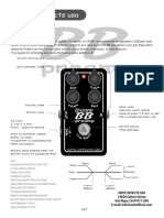 Bass BB Preamp Manual