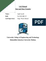 H.M.T Lab Manual