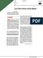 Digit, società per l'innovazione sociale digitale - Il Corriere Adriatico del 4 settembre 2019