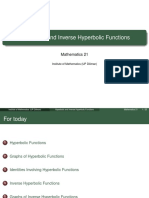 Hyperbolic and Inverse Hyperbolic Functions (Slides)