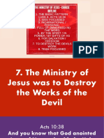 Ministry of Jesus 3A—Against the works of the devil