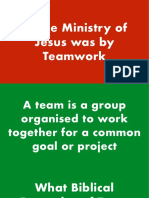 Ministry of Jesus 3C—By Teamwork