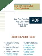 Unix Startup Configuration