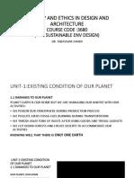 1 Ecology and Ethics Unit1