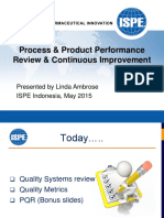 ISPE - Indo - Process & Product Review & CI