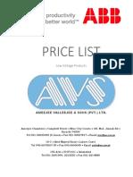 Abb (Avs) Price List