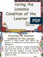 Factoring the Economic Condition of the Learner
