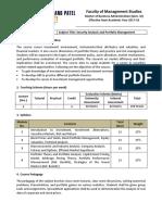 F301 Security Analysis and Portfolio Maagement (1)