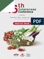 15th Solanaceae Abstract 2018 (Chiangmai Thailand)