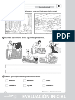 2º Ciencias Sociales - Evaluación Inicial