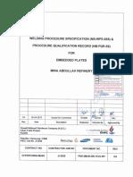 WPS for Embedded Plates NB-WPS-055