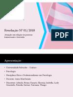 Resolução nº1/2018 do CFP - Atendimento Psicológico a Transexuais e Travestis