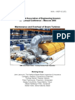 Maintenance and Overhaul of Steam Turbines