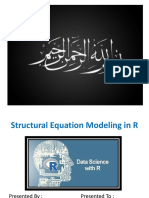Structural Equation Modeling in R