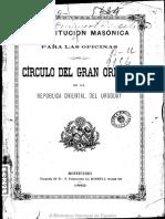 Constitución - Gr Or Uruguay 1882 (2)