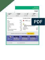 taxi bill format
