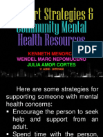 Support Strategies & Community Mental Health Resources