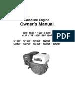 Gasoline Engine 160F-190F G120F-G420F- Manual