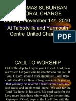 Forgive Us Our Sins Nov 14 2010 Talbotville & Yarmouth
