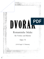 IMSLP09925-Dvorak - Op.75 - 4 Romantic Pieces for Violin and Piano