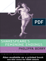 Shakespeare's Feminine Endings
