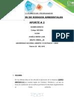 Paso 2 Evaluacion de Riesgos Ambientales Aporte 2