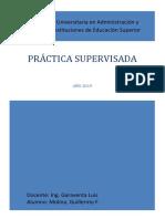 Práctica Supervisada Molina 2019