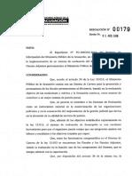 Resolución N° 179