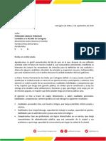 Carta de Adelfo Doria a Fernando Araújo