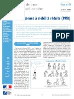 Les personnes à mobilité réduite (PMR)