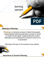 meaning of planning in tourism