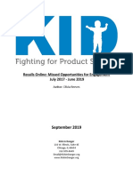 KID Recall Effectiveness Report