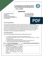 Business Finance Course Outline Nbeac