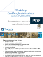 Palestra Testtech Certificacao de Produtos