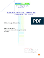 Manual Operacion Variador de Frecuencia