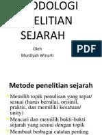 metodologi sejarah