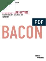 Exposition Bacon en toutes lettres au Centre Pompidou