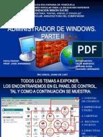 Administrador de Windows. Parte II