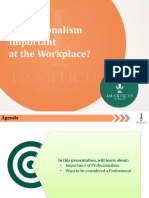 Why is Professionalism Important at the Workplace.pptx
