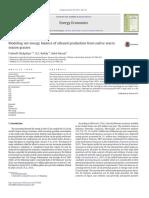 Modeling Net Energy Balance of Ethanol Production From Native Warmseason Grasses
