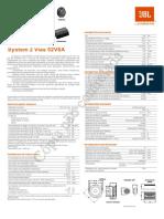 JBL 52V6A PAR 28085195 Manual Portuguese